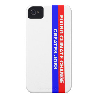 Fixing Climate Change Creates Jobs iPhone 4 Case-Mate Cases