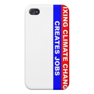 Fixing Climate Change Creates Jobs iPhone 4 Covers
