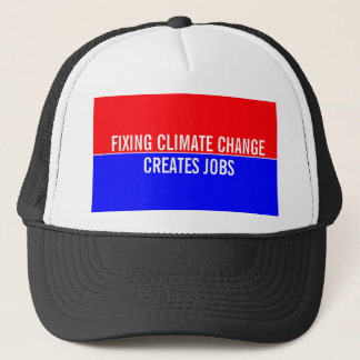 Fixing Climate Change Creates Jobs Trucker Hat