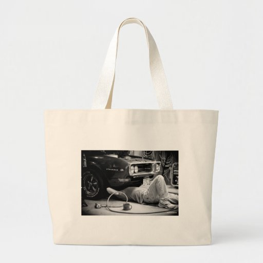 Fixing the muscle car! canvas bag