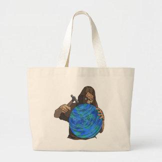 fixing the world jumbo tote bag