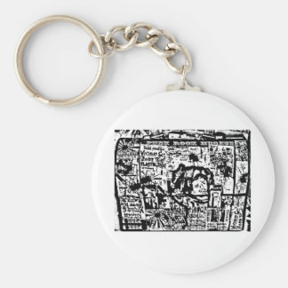fixx tribute lunchbox print by Sludge Basic Round Button Key Ring