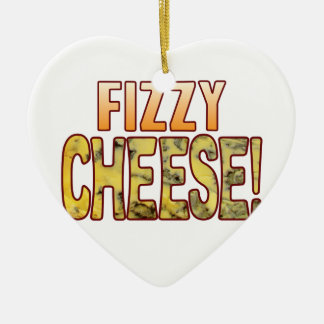 Fizzy Blue Cheese Ceramic Heart Decoration
