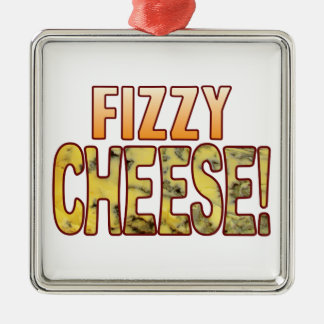 Fizzy Blue Cheese Silver-Colored Square Decoration