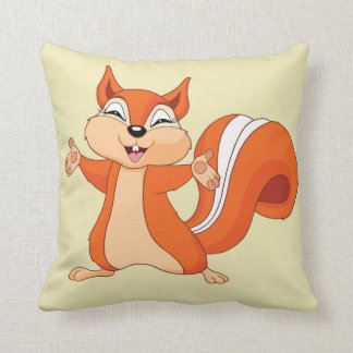 Fizzy the Playful Squirrel Cushion