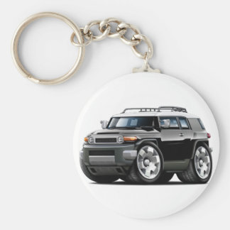 Fj Cruiser Black Car Basic Round Button Key Ring