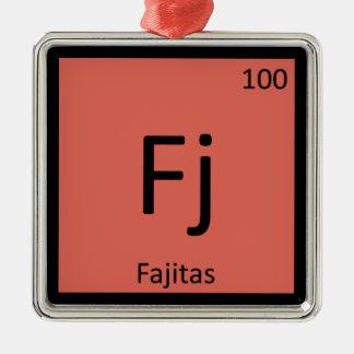 Fj - Fajitas Chemistry Periodic Table Symbol Christmas Ornament