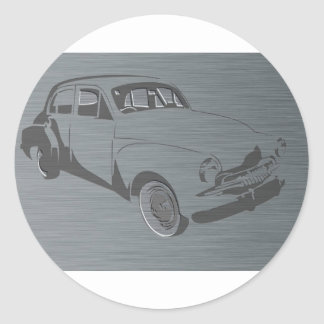 FJ Holden Round Sticker