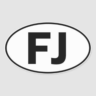 FJ Oval Identity Sign Oval Sticker