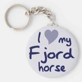 Fjord horse basic round button key ring