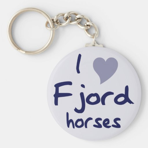 Fjord horses key chains