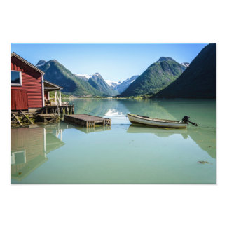 Fjord landscape in Norway Photo Print