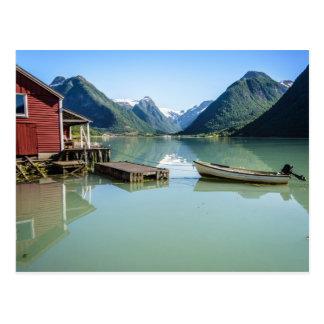 Fjord landscape postcard