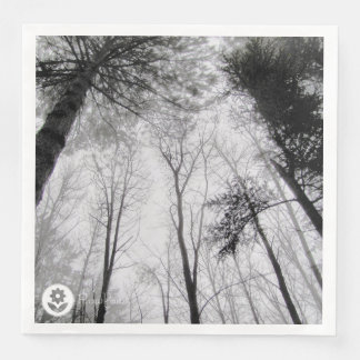 FʟᴏᴡPᴏᴡ   Wood ~ Greyscale Paper Napkin