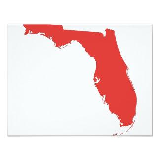 FL a RED State 11 Cm X 14 Cm Invitation Card