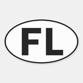 FL Oval Identity Sign Oval Sticker