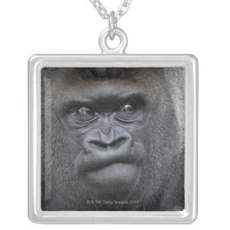 Flachlandgorilla, Gorilla Silver Plated Necklace