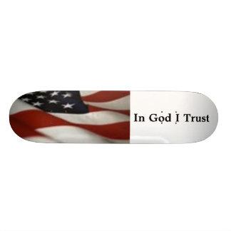 flag1-1, In God I Trust Skateboard