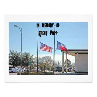 Flag 027, In memory ofBrent Popp 21.5 Cm X 28 Cm Flyer
