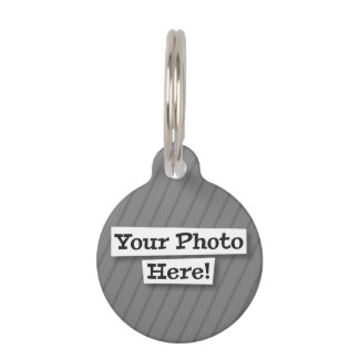 Flag Add Your Own Photo Pet ID Tag