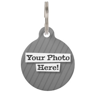 Flag Add Your Own Photo Pet Name Tag