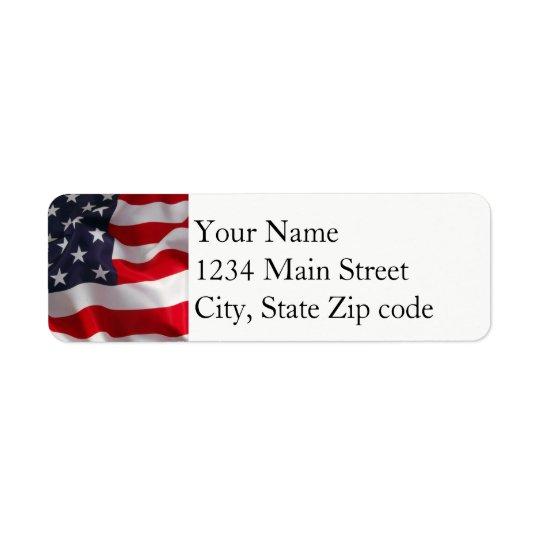 Flag address label