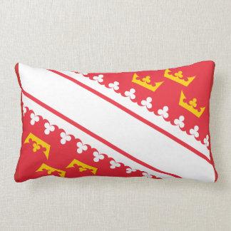 Flag Alsace (France) Drapeau Alsace Flagge Elsass Lumbar Cushion