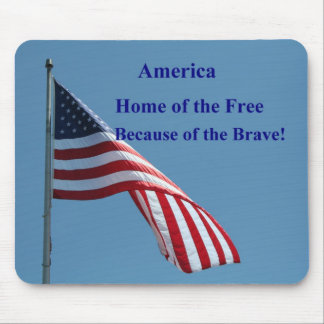 Flag, America Mouse Pad