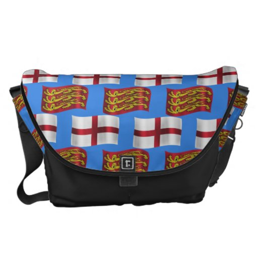 Flag and Banner of England Messenger Bags