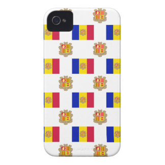 Flag and Crest of Andorra iPhone 4 Covers