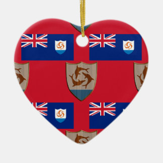 Flag and Crest of Anguilla Christmas Ornament