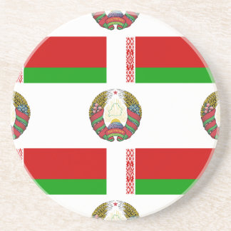 Flag and Crest of Belarus Coasters