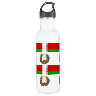 Flag and Crest of Belarus 710 Ml Water Bottle