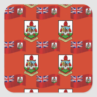 Flag and Crest of Bermuda Stickers