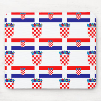 Flag and Crest of Croatia Mouse Mat