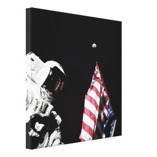 Flag and Earth Canvas Prints