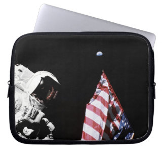 Flag and Earth Laptop Computer Sleeves
