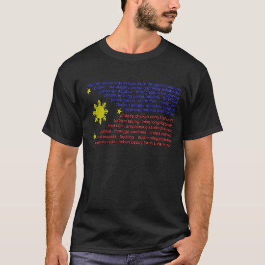 Flag and Filipino delicacies T-Shirt