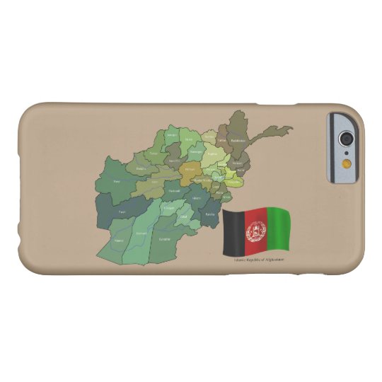 Flag and Map of Afghanistan Barely There iPhone
