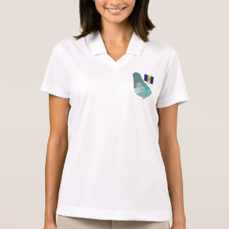 Flag and Map of Barbados Polo Shirt