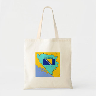 Flag and Map of Bosnia and Herzegovina Tote Bag