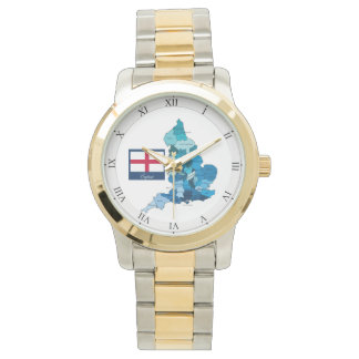Flag and Map of England Watch
