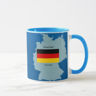 Flag and Map of Germany Mug