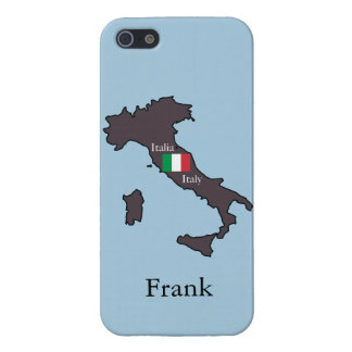 Flag and Map of Italy Cover For iPhone 5/5S