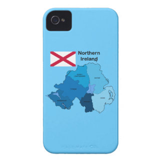 Flag and Map of Northern Ireland iPhone 4 Covers
