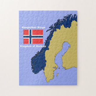 Flag and Map of Norway Puzzle