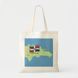 Flag and Map of the Dominican Republic Tote Bag