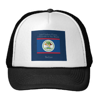 Flag and Motto of Belize Cap