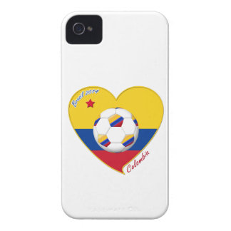 Flag and national team of COLOMBIA SOCCER 2014 Case-Mate iPhone 4 Cases