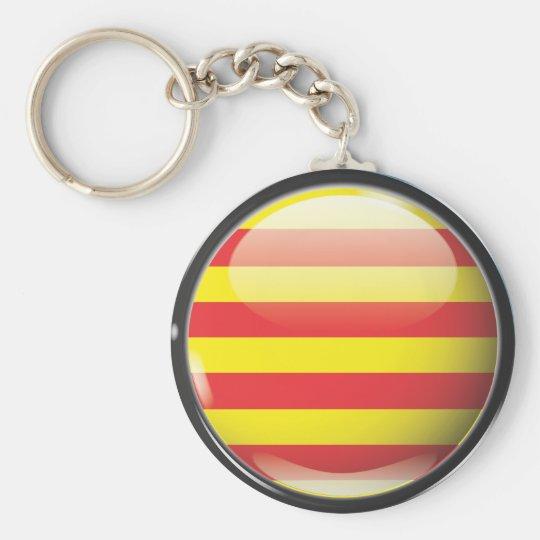 Flag and shield of Catalonia Key Ring